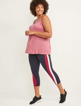 Lane Bryant LIVI Active Signature Stretch Capri Legging - Colorblock Stripe