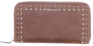pradaPrada Studded Leather Wallet