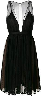 No.21 tulle lace panel dress