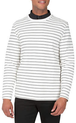 Kenneth Cole New York Striped Crewneck Sweatshirt