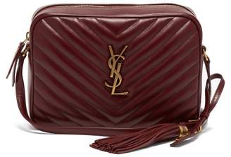 Saint Laurent - Lou Quilted Leather Cross Body Bag - Womens - Burgundy