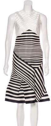 J. Mendel Sleeveless Striped Dress