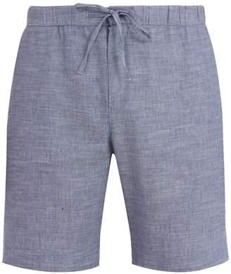FRESCOBOL CARIOCA Drawstring-waist slim-leg linen-blend shorts