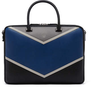 MCM Ottomar Briefcase In Chevron Leather