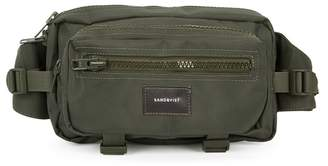 SANDQVIST Felix Army Green Canvas Belt Bag
