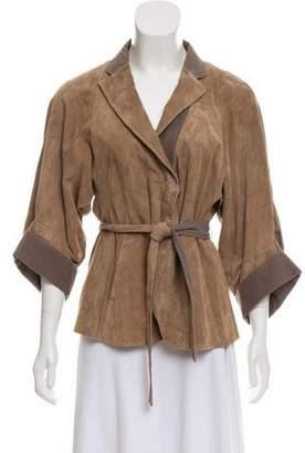 Brunello Cucinelli Leather Casual Jacket