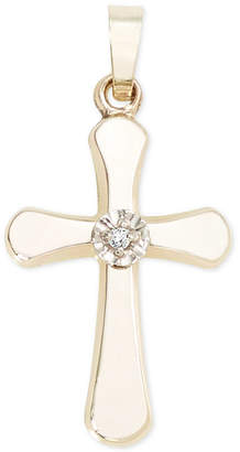 Macy's Diamond Accent Cross in 14k Gold