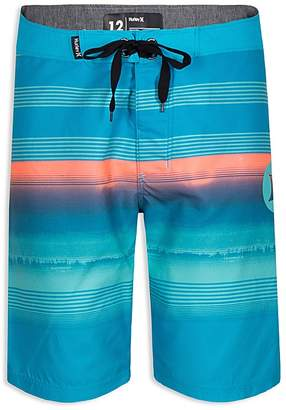 Hurley Boys' Gaviotas Stripe-Print Board Shorts - Big Kid