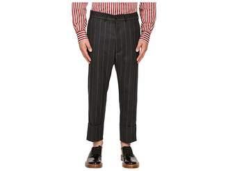 Vivienne Westwood Pinstripe Flannel James Bond Cropped Men's Casual Pants