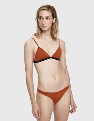 Haight Taping Triangle Bikini in Rust and Black
