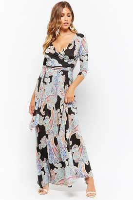 Forever 21 Paisley Surplice Maxi Dress