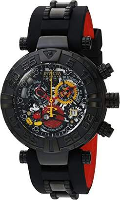 Invicta Men's 'Disney Limited Edition' Swiss Quartz Stainless Steel and Silicone Casual Watch