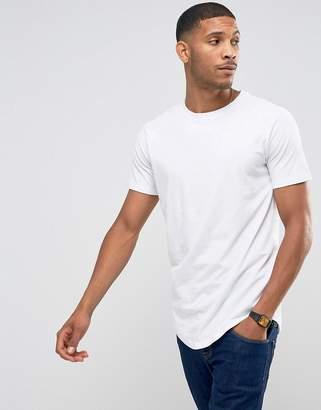 Jack and Jones Core Longline T-Shirt With Raglan Sleeve
