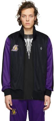 Marcelo Burlon County of Milan Black and Purple NBA Edition LA Lakers Zip-Up Jacket
