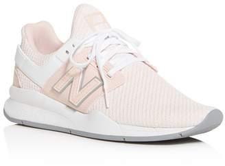 New Balance Women's 247 Knit Low-Top Sneakers