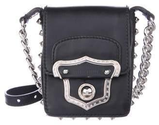 Miu Miu Studded Embellished Mini Crossbody Bag Black Studded Embellished Mini Crossbody Bag