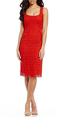 Anne Klein Anne Klein Crochet Lace Sheath Dress