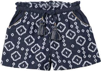 Velveteen Embroidered Bermuda Shorts, Sizes 8-12