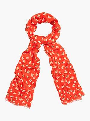 Phase Eight Franca Ditsy Print Scarf, Red