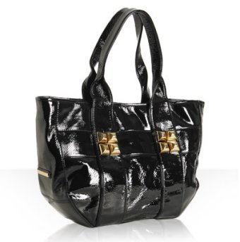 Shih by Stephanie Lin black patent 'Diego Toto' east-west tote