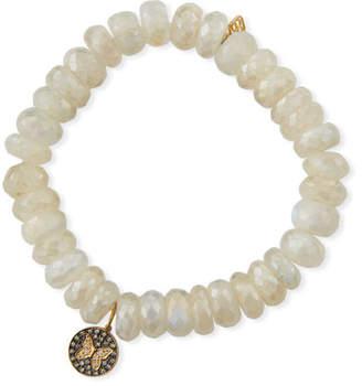 Sydney Evan 14k Moonstone & Diamond Butterfly Bracelet