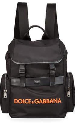 Dolce & Gabbana Men's Nylon Logo Backpack