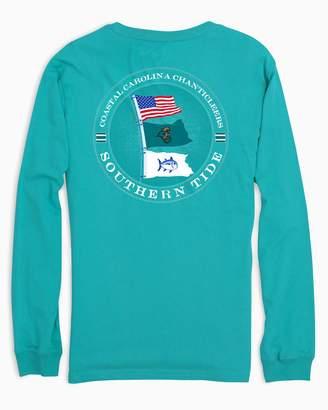 Southern Tide Gameday Nautical Flags Long Sleeve T-shirt - Coastal Carolina University