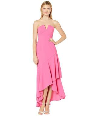 Jill Stuart Strapless Gown with V Cut in Bodice
