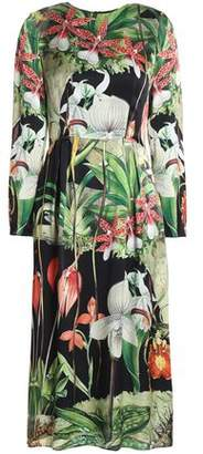 ADAM by Adam Lippes Printed Silk-Satin Dress