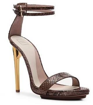 Herve Leger Cecile Reptile Leather Platform Sandal