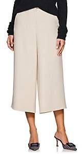 Giorgio Armani Women's Wool-Angora Wide-Leg Trousers - Brown