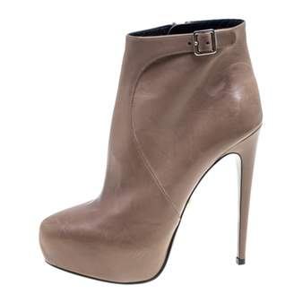 Prada Beige Leather Ankle boots