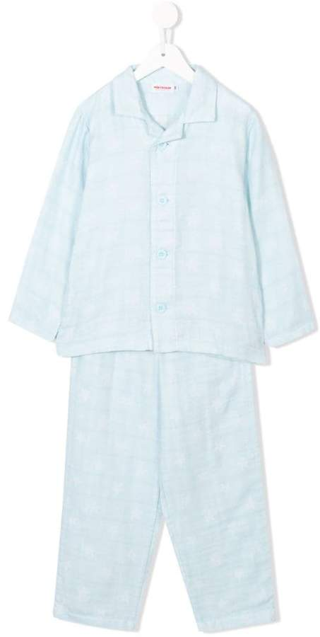 Miki House long-sleeve top and trousers pyjama