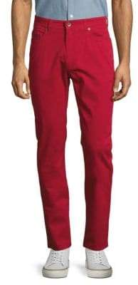 Robert Talbott Solid Stretch-Cotton Pants