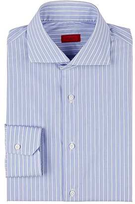 Isaia Men's Striped Cotton Shirt