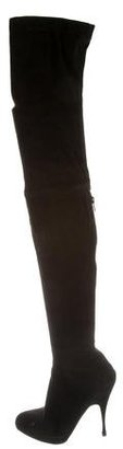 Brian Atwood Suede Thigh-High Boots $375 thestylecure.com
