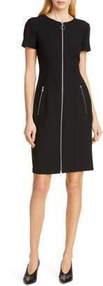 HUGO Ketia Front Zip Sheath Dress