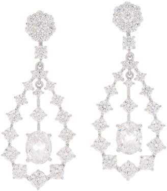 Diamonique Royal Collection Chandelier Earrings, Sterl