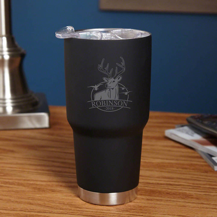 Etsy Outdoor Life 30 oz Double-Wall Personalized Tumbler - Gifts for Anniversary Birthday and More - Engr