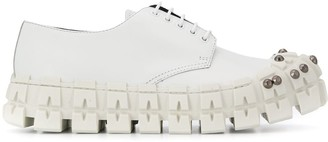 Prada studded lace-up shoes