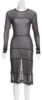 Morgane Le Fay Semi-Sheer Midi Dress