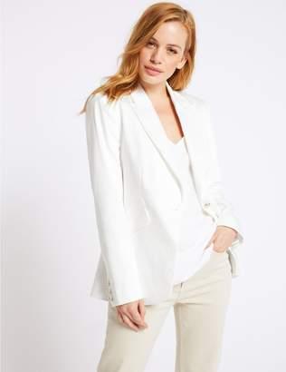 Marks and Spencer PETITE Cotton Rich Blazer