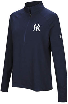 Under Armour Women's New York Yankees Passion Half-Zip Pullover