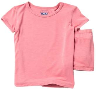 Kickee Pants Solid Short Sleeve Pajama Set with Shorts (Baby, Toddler, Little Girls, & Big Girls)