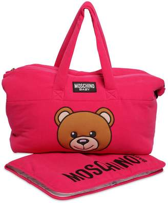 Moschino Toy Patch Cotton Interlock Changing Bag