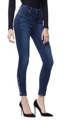 Ga Sale Good Legs Crop Snap Hem - Blue155