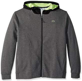 Lacoste Men's Long Sleeve Hoodie with Lining & Contrast Zipper Sweatshirt