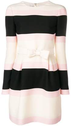 Valentino stripe bow detail dress