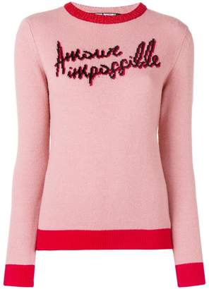 Pinko graphic knitted jumper