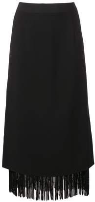 Schumacher Dorothee high-waisted fringed skirt